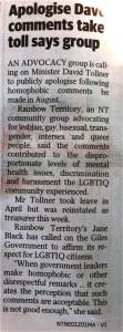 NT News article